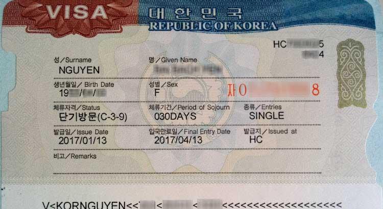 Xin visa du lịch Hàn Quốc từ Nhật Bản